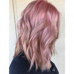 Cotton Candy with a long bob
