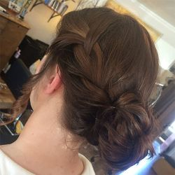 French Braid With A Messy Bun