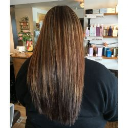 Partial Highlights on Long Hair